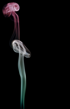 Smoke art with black background in toned color Stock Photo - 17200830