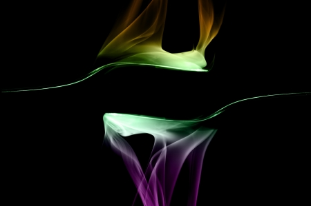 Smoke art with black background in toned color Stock Photo - 17200829