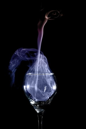 Smoke art capturing incense trail for abstract Stock Photo - 17571106