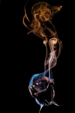Smoke art capturing incense trail for abstract Stock Photo - 17571107