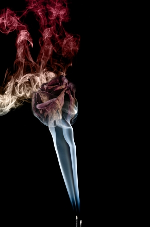 Smoke art capturing incense trail for abstract photo