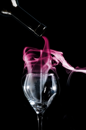 Smoke art capturing incense trail for abstract Stock Photo - 17571105
