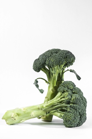 brocolli: A head of Green brocolli close up Stock Photo