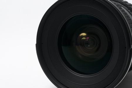 DSLR camera lense isolated on white background photo