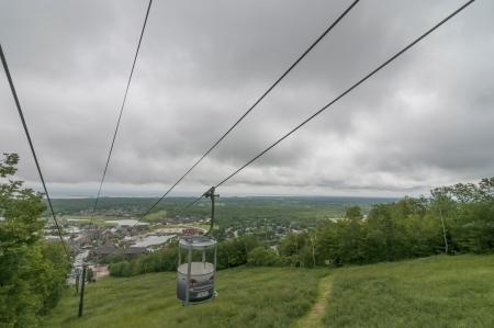 ski lift during summer at Blue mountain onta Stock Photo - 21052675