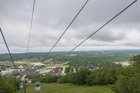 ski lift during summer at Blue mountain ontario