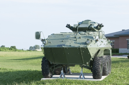 Armoured Personnel carrier on display for exhibit
