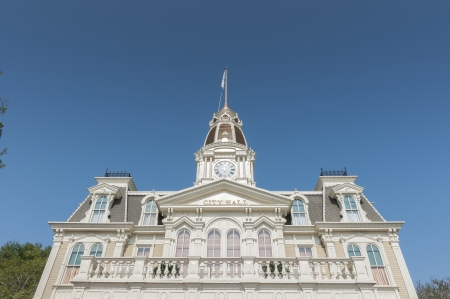 Cityhall at Disney main street during day time