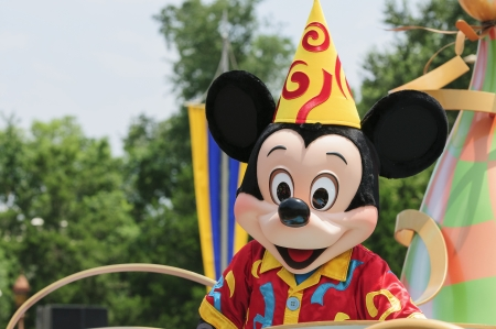 Mickey mouse close-up portrait during the parade Banco de Imagens - 21595775