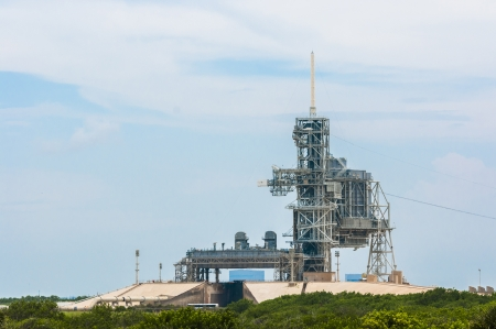 cape canaveral: Launch pad 39A at cape canaveral, Florida USA Editorial