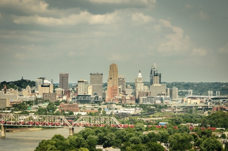 Day time shot of cincinnati ohio skyline