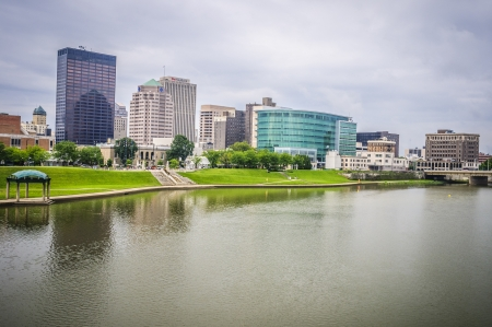 Riverside city skyline of Dayton ohio