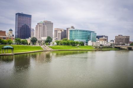 Riverside city skyline of Dayton ohio