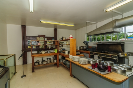 harland: Original kitchen at Harland Sanders Café and Museum in Corbin Kentucky