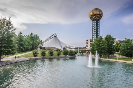 The Sunsphere, site of 1982 Worlds Fair. Редакционное