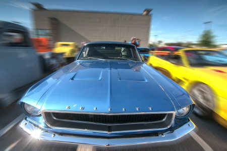 frederick street: Classic cars on display during car show Editorial