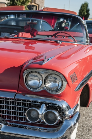 frederick street: Classic cars on display during car show Stock Photo