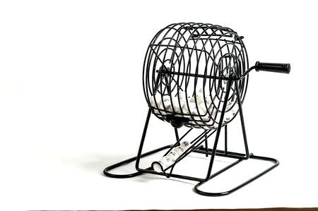 Bingo cage isolated on white back ground