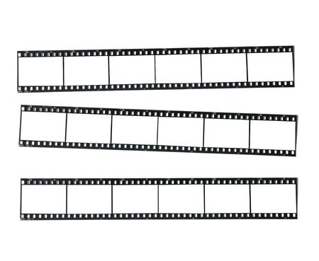 film strips flat on white  Imagens