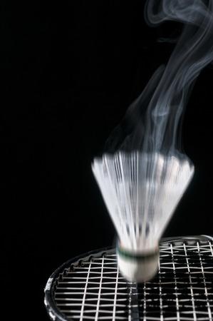 raquet: Shuttle cockhitting raquet smoling