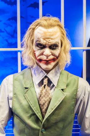The joker behind bar, batmans arch nemesis