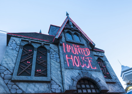 The haunted house amusement at Clifton hill niagara.