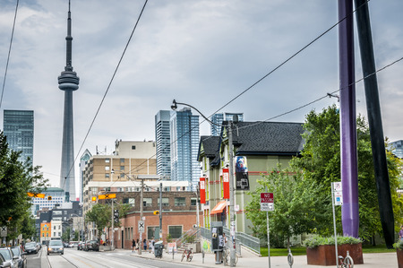 A street view of downtown looking to CN tower