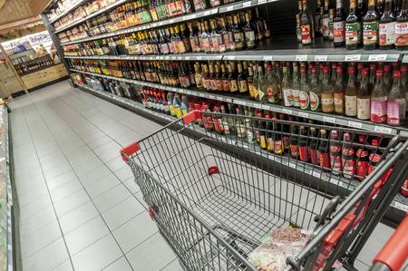 Asian Produkt im Regal des asiatischen Supermarkt
