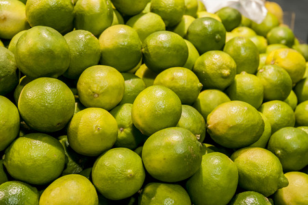 super market: Stock pie of green lime in a super market