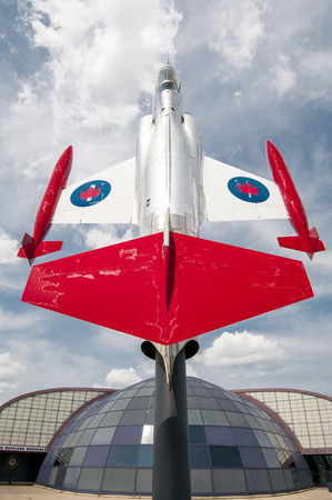 The Canadair CF-104 Starfighter (CF-111, CL-90) was a modified version of the Lockheed F-104 Starfighter supersonic fighter aircraft built in Canada by Canadair under licence. It served with the Royal Canadian Air Force (RCAF) and later the Canadian Force
