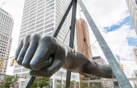 The Monument to Joe Louis, known also as The Fist,[1] is a memorial to the boxer at Detroits Hart Plaza. Editorial