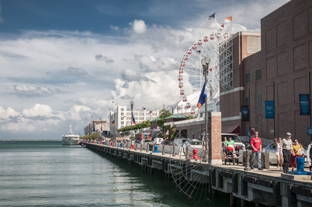 Navy Pier chicago on a busy day Editorial