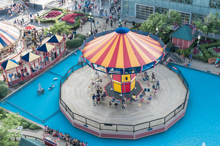 Navy pier carousel a view from the top
