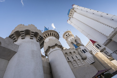 mediaval: Castle and mediaval theme of excalibut hotel Las vegas.