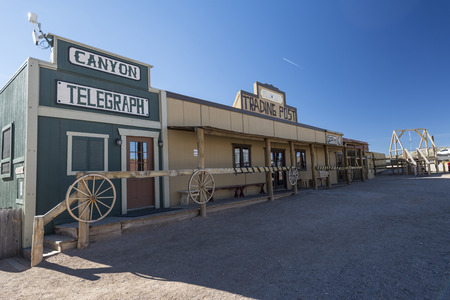 An old western town scenery in the mid-west