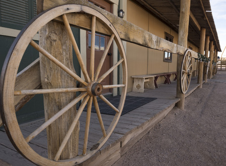 western usa: An old western town scenery in the mid-west