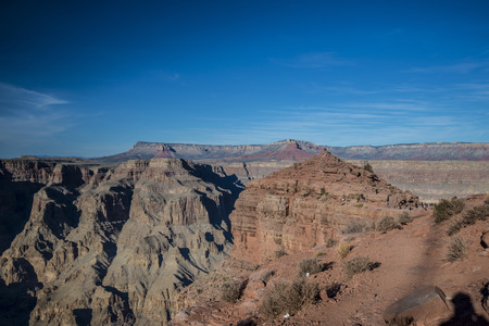 View at the guano point, west rim grand canyon photo