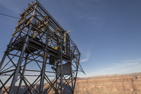 structure: Guano point aerial tramway steel structure.