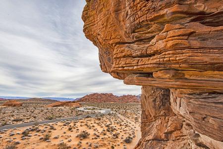 奇妙な岩の谷の火ネバダ州アメリカ合衆国 写真素材