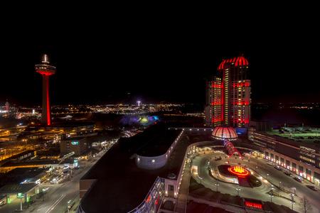 niagara falls city: A night shot at niagara falls casino