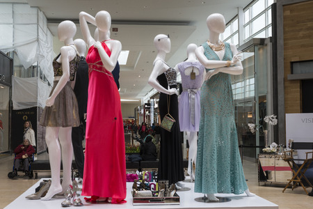 dealings: A fashion mannequinne on display at the mall.