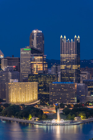 vertical format: Skyline of Pittsburgh on a vertical format
