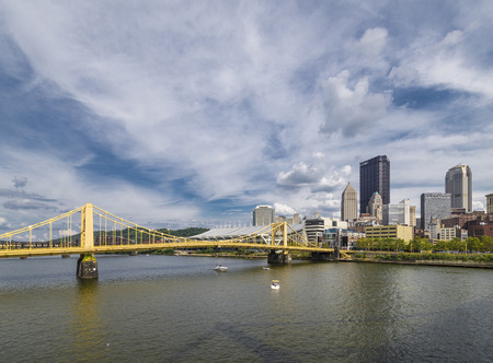 allegheny: A view of downtown Pittsburgh Pa in day time Stock Photo