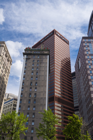 few: Few building on downtown pittsburgh Pa USA Stock Photo