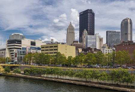 financial district: A view of downtown Pittsburgh Pa in day time Stock Photo