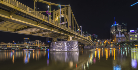 allegheny: A bridge in Pittsburgh Pa named after Roberto Clemente. Editorial