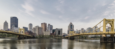 allegheny: a Panoramic view of down town Pittburgh