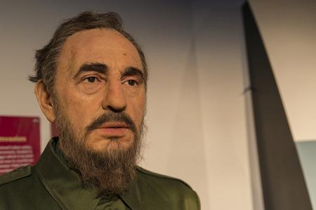 A wax model of cuban leader Fidel castro Editorial
