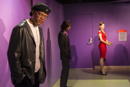 samuel: A wax replica of actor Samuel jackson Editorial