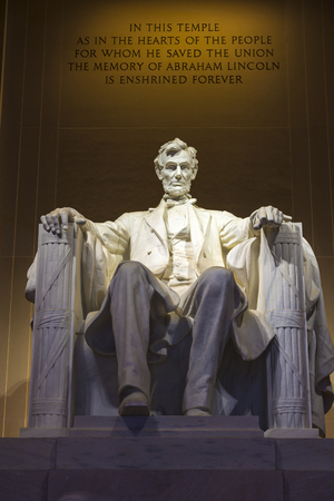 abraham lincoln: A memorial dedicated to a former president of USA Abraham Lincoln